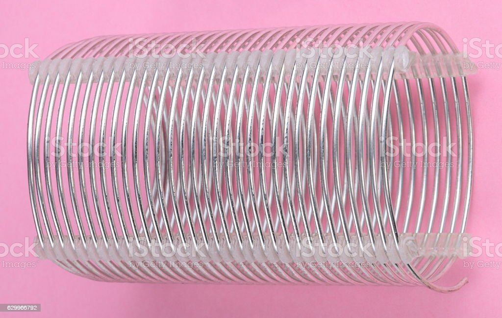 radio coil on pink background stock photo