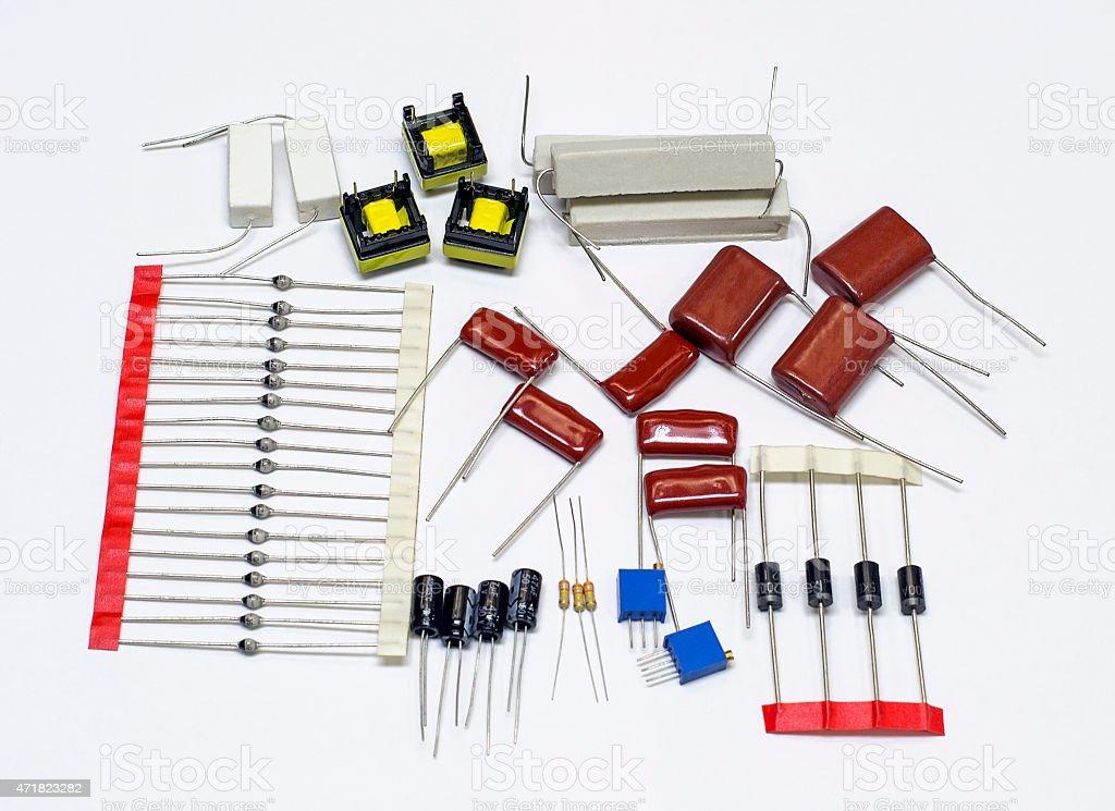 Radio components stock photo