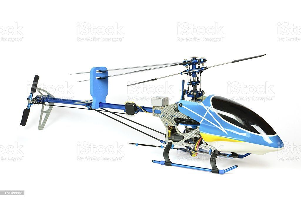 Radio Controlled Helicopter model carnopy stock photo
