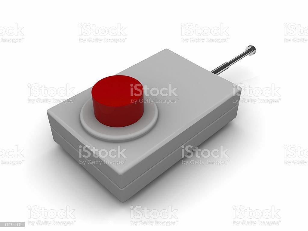 Radio detonator royalty-free stock photo