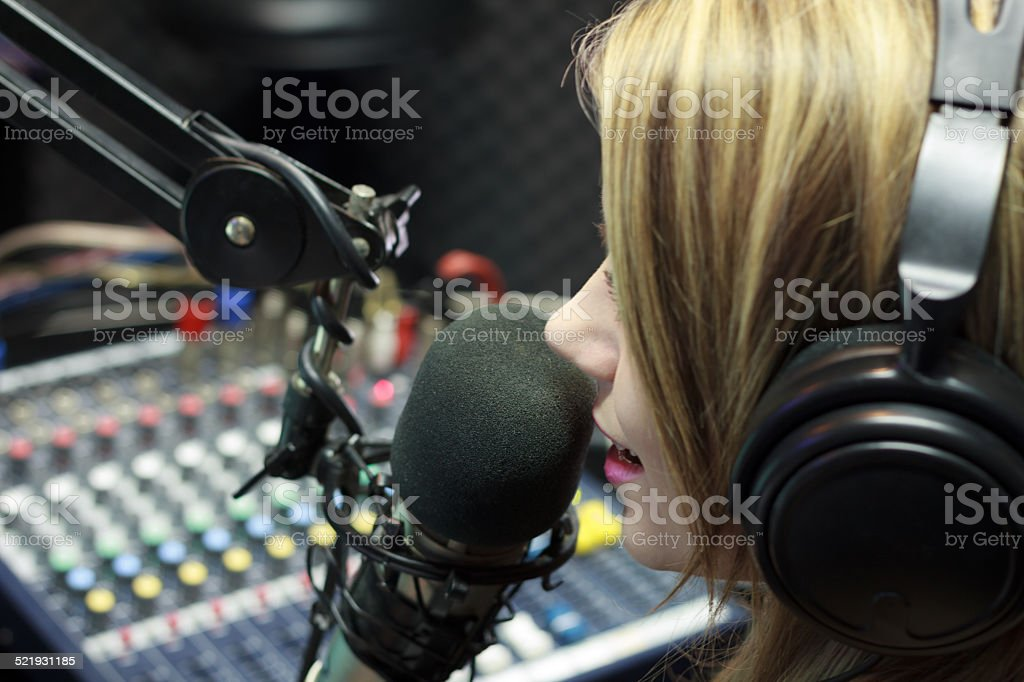 Radio DJ stock photo
