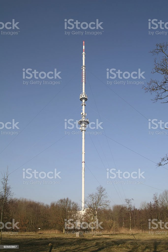 Radio mast royalty-free stock photo