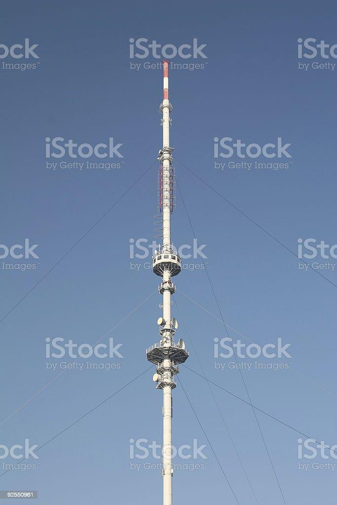 Radio mast stock photo