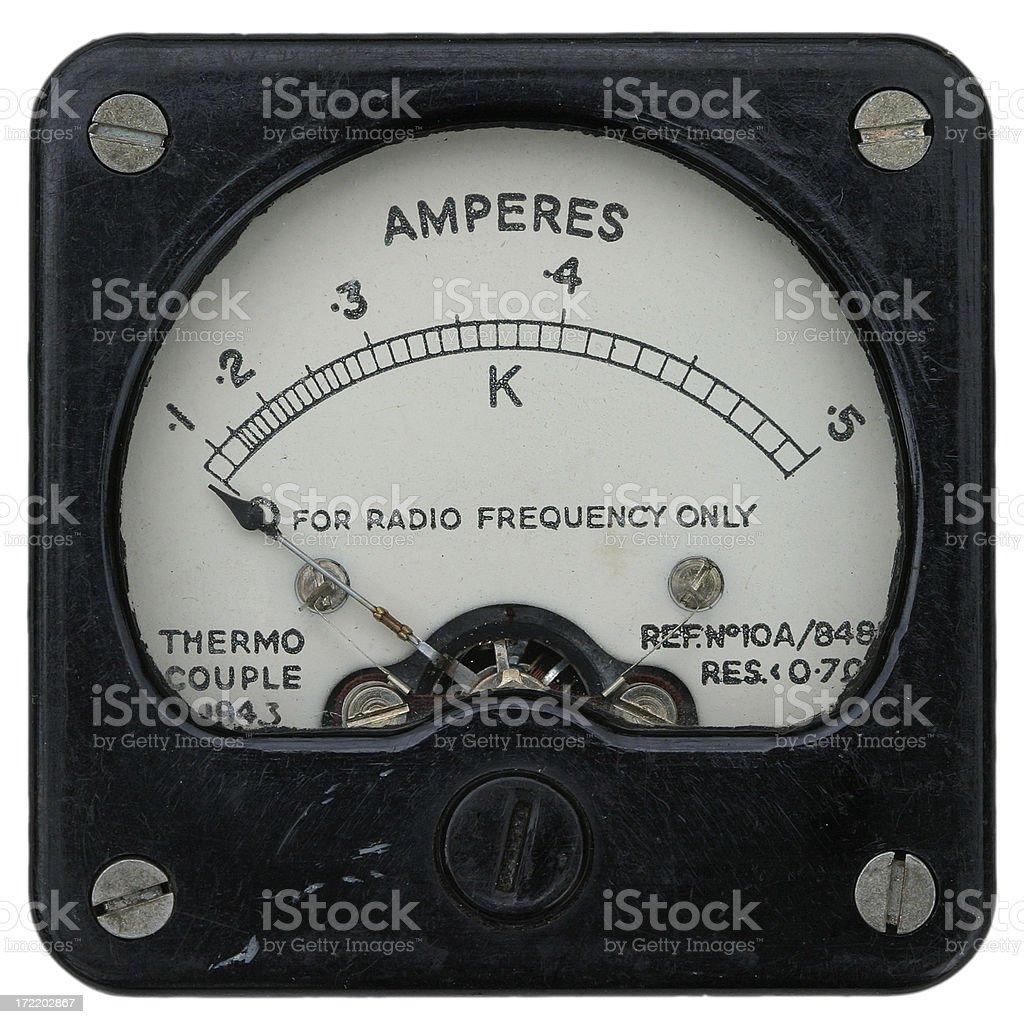 Radio meter - 1940/50s royalty-free stock photo