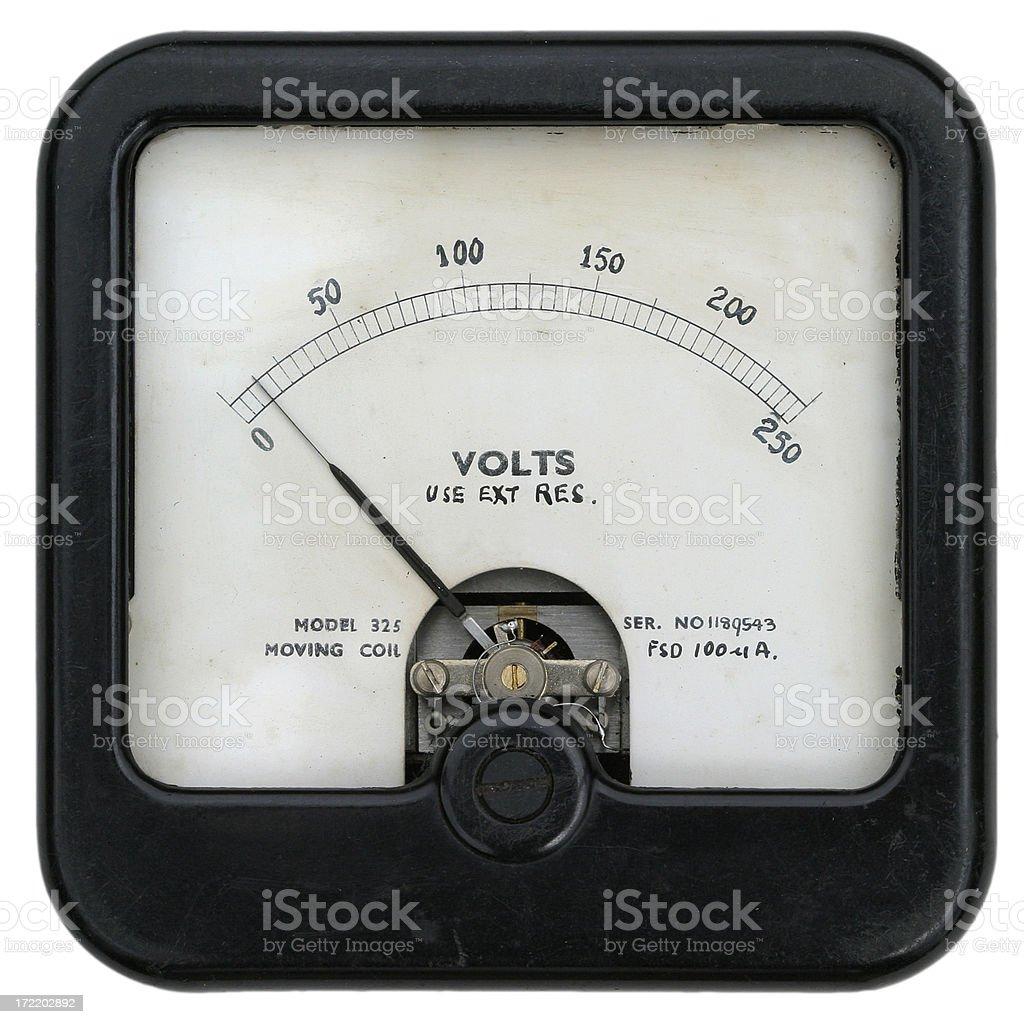 Radio meter - 1940/50s stock photo