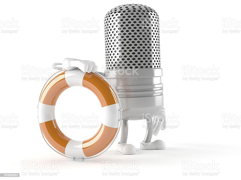 Radio microphone royalty-free stock photo