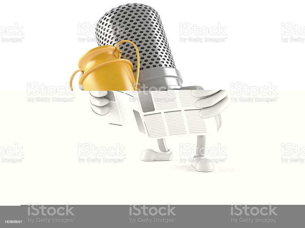 Radio microphone royalty-free stock photo