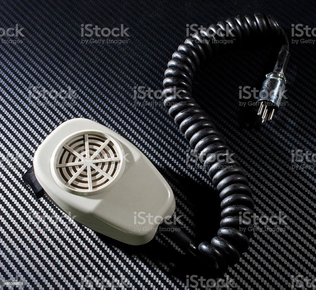 Radio microphone stock photo