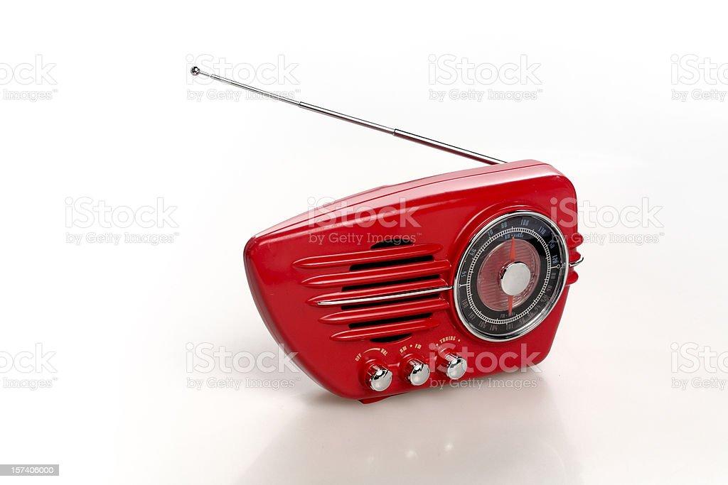 Radio on Red royalty-free stock photo