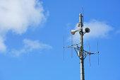 Radio pole and broadcasting