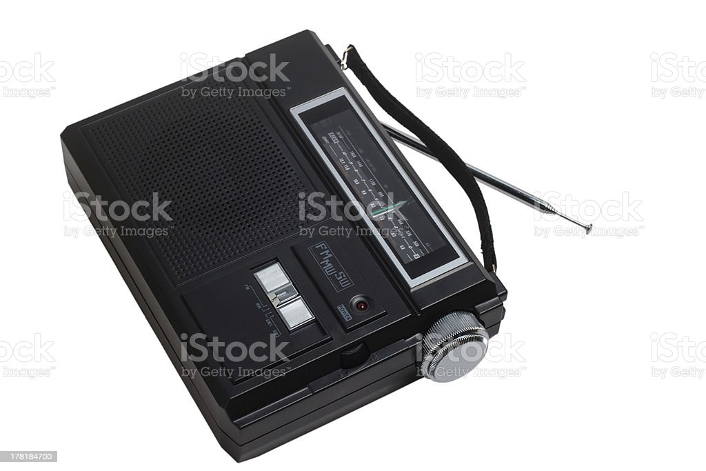 radio portable fm transistor old tuner set isolated fashioned cl royalty-free stock photo