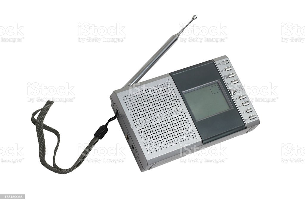 radio portable transistor fm old tuner set isolated fashioned cl royalty-free stock photo