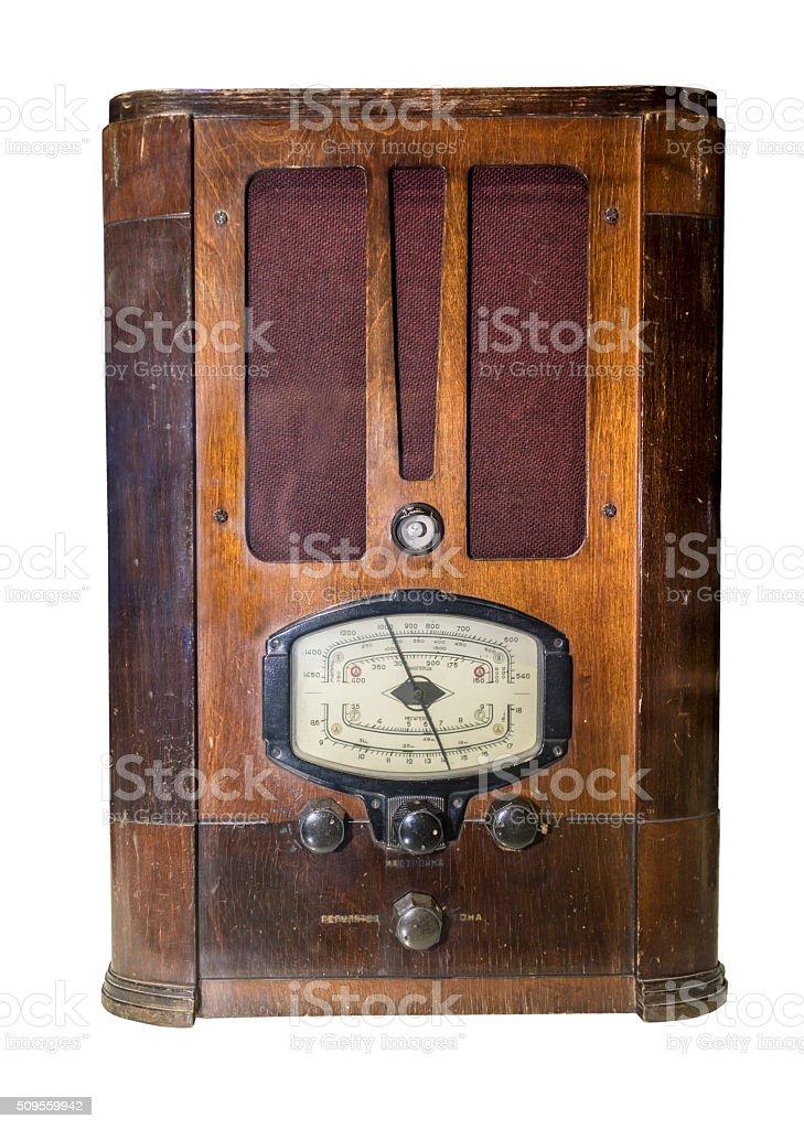 Radio receiver Production in 1936 stock photo
