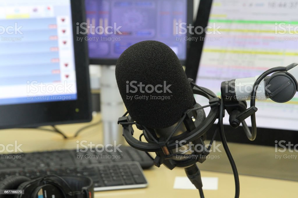 Radio station. Live Stream. stock photo