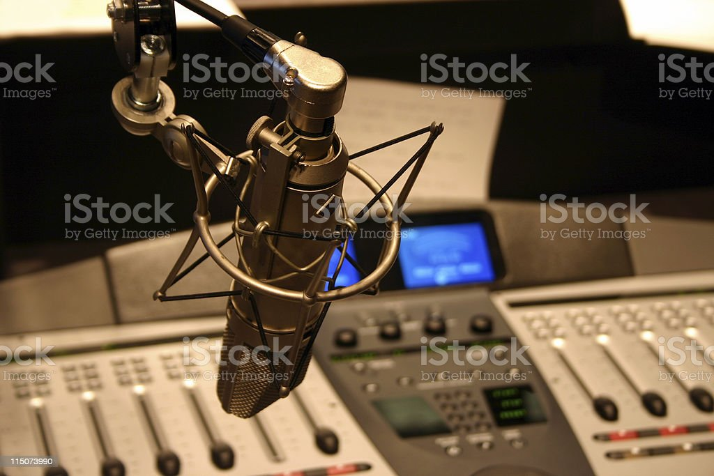 Radio station stock photo