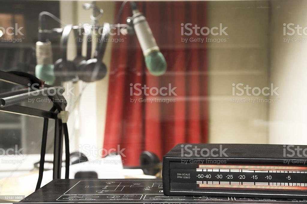 Radio studio royalty-free stock photo