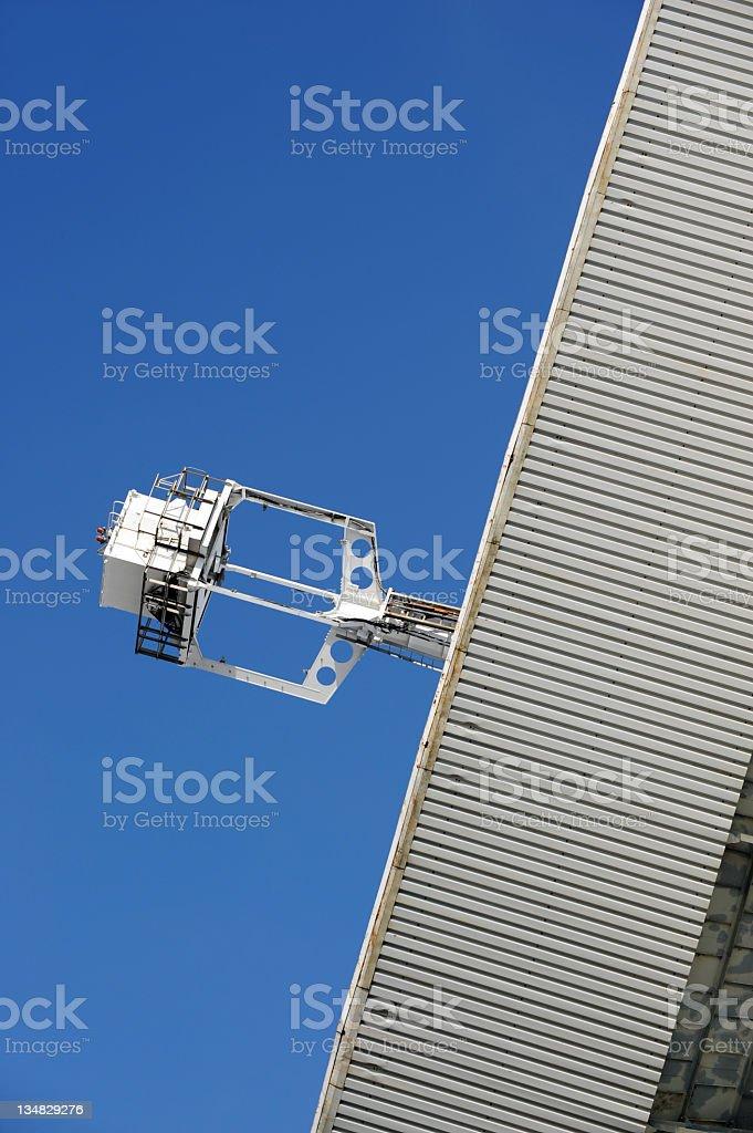 Radio Telescope at Jodrell Bank royalty-free stock photo