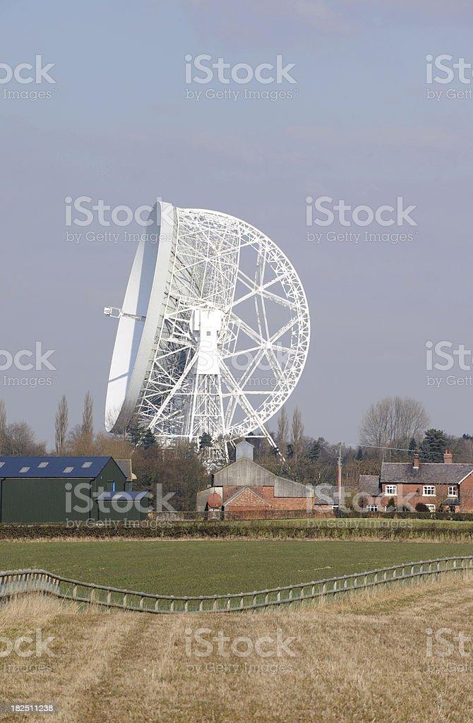 Radio Telescope at Jodrell Bank stock photo