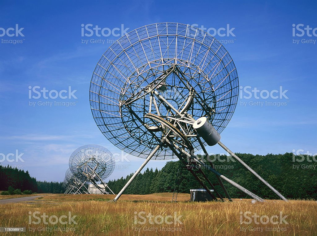 Radio Telescope at Westerbork the Netherlands stock photo