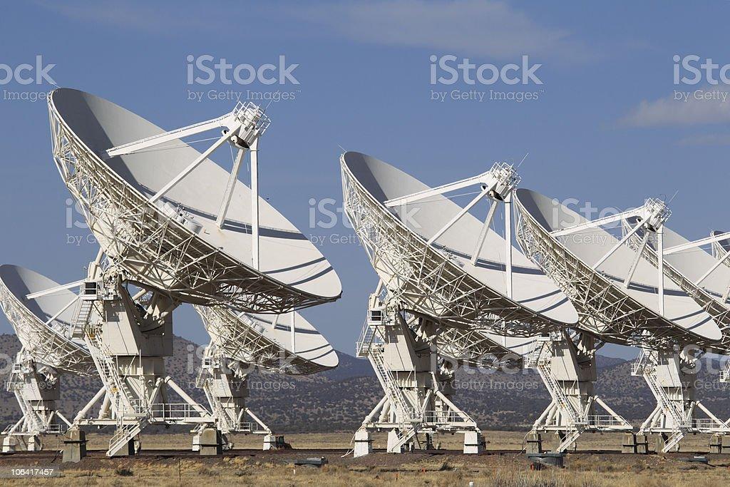 Radio Telescope Dishes stock photo