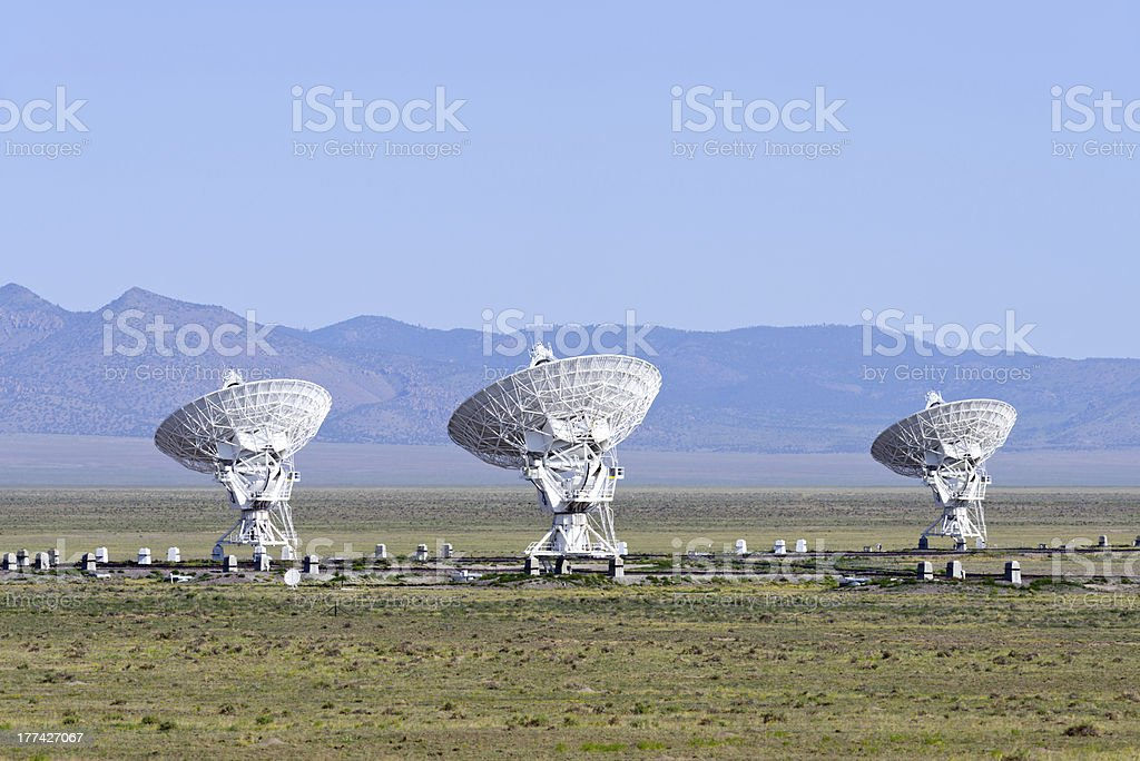 VLA radio telescope royalty-free stock photo