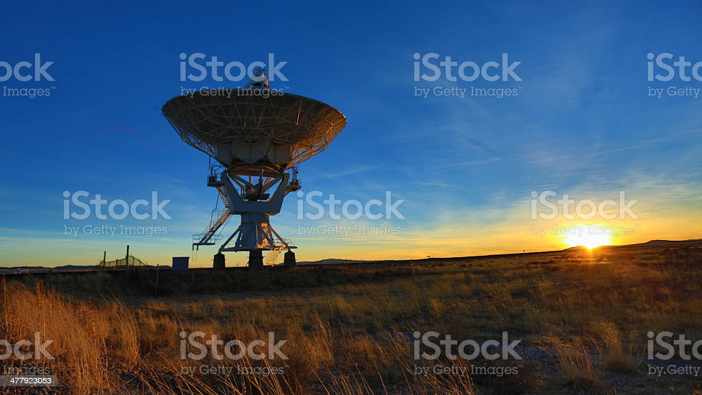 Radio Telescope stock photo