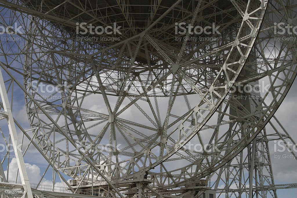 Radio Telescope Support stock photo