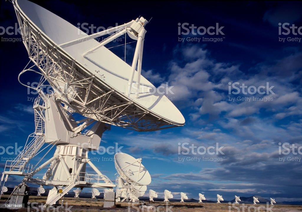Radio Telescopes in Socorro, New Mexico royalty-free stock photo