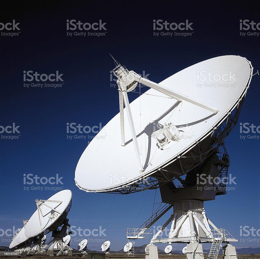 VLA Radio Telescopes in Socorro, New Mexico royalty-free stock photo
