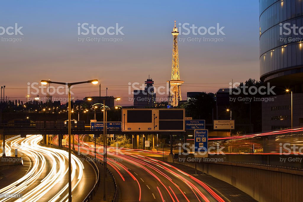 Radio tower in Berlin stock photo