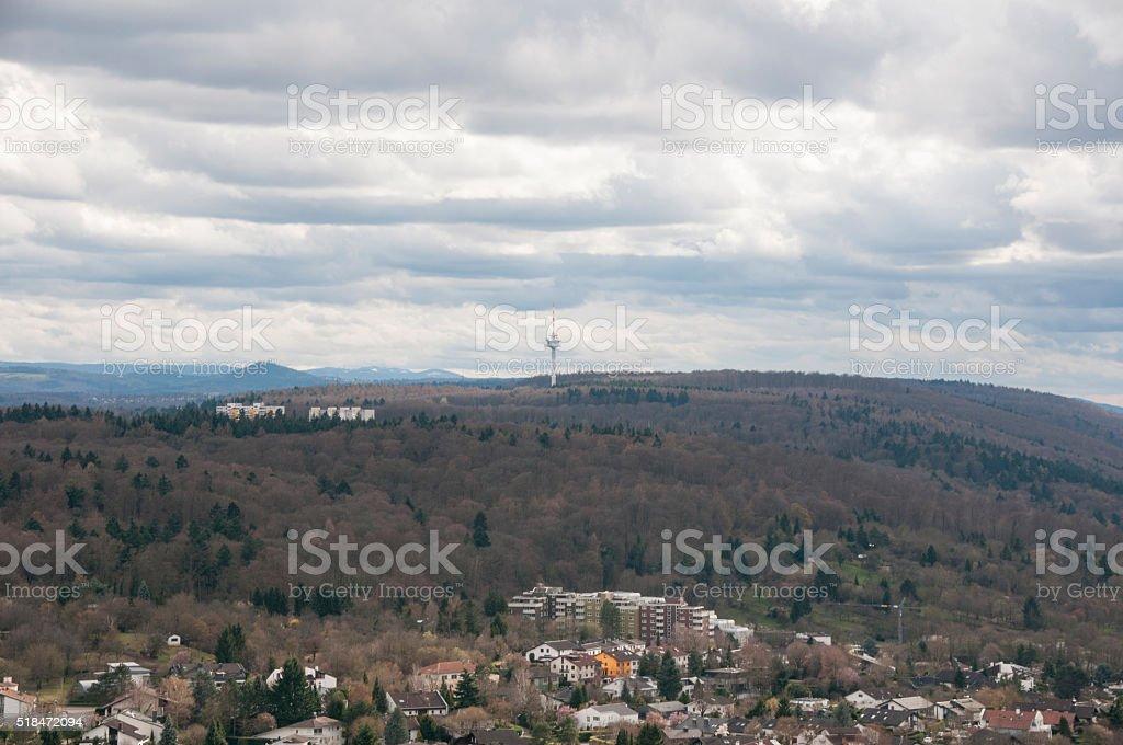 Radio tower near Karlsruhe, stock photo