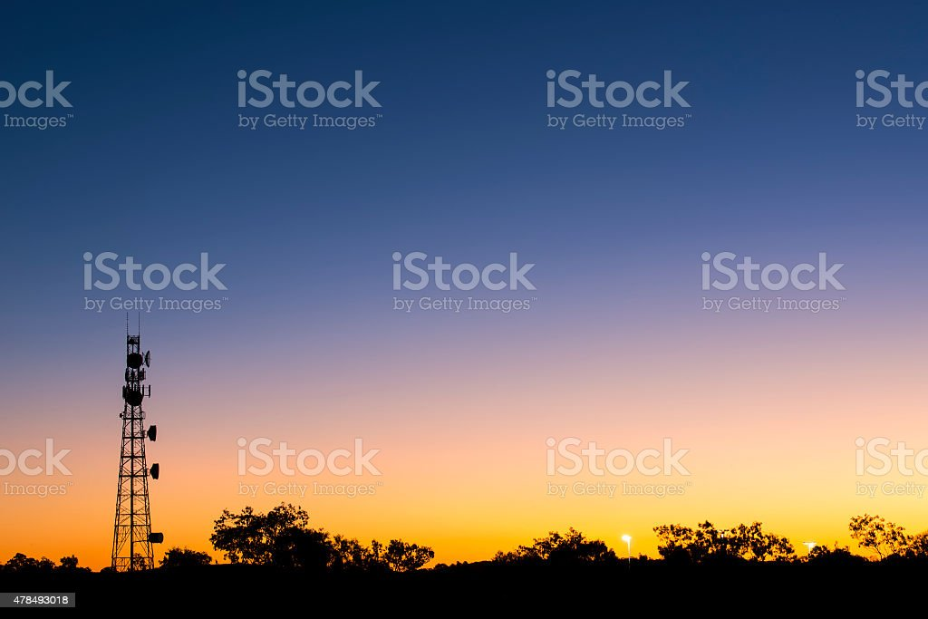 Radio Tower with sky background. stock photo