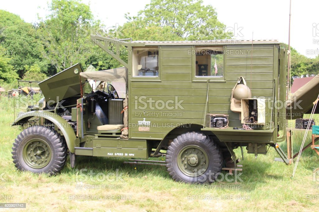 Radio Truck stock photo