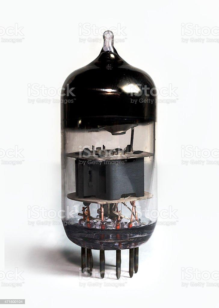 Radio tube stock photo