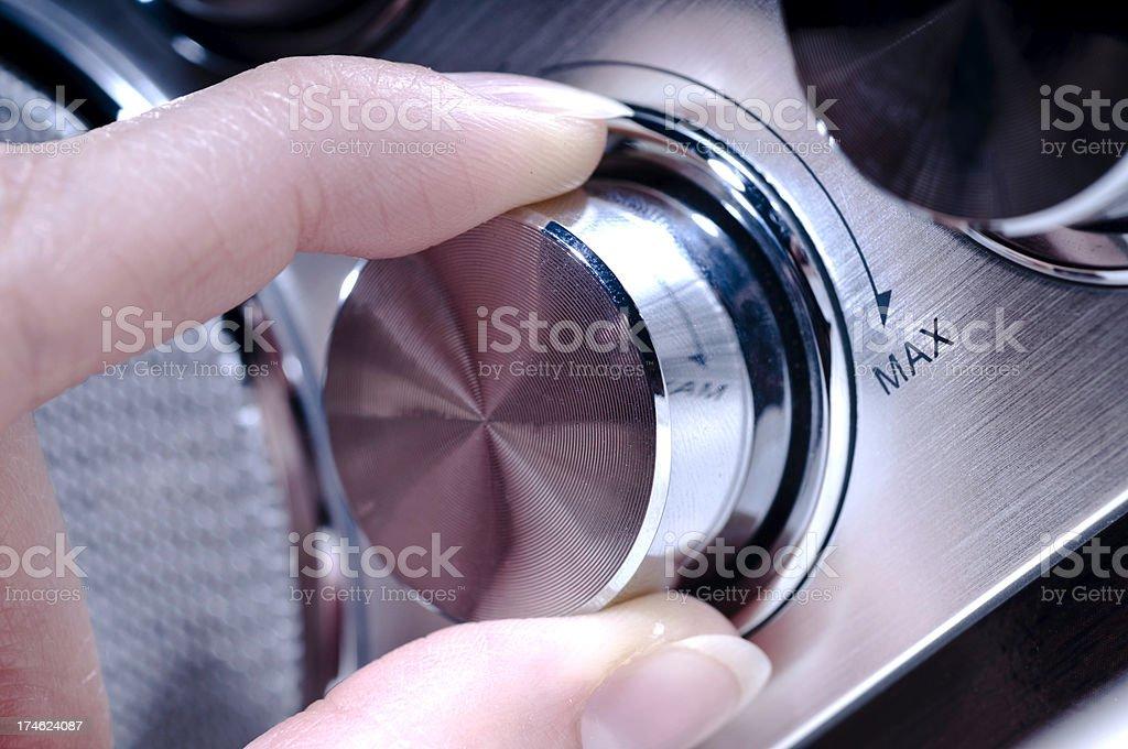Radio Volume stock photo