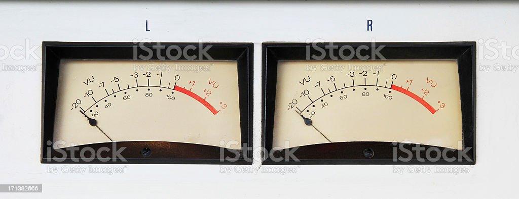 Radio VU Meters stock photo