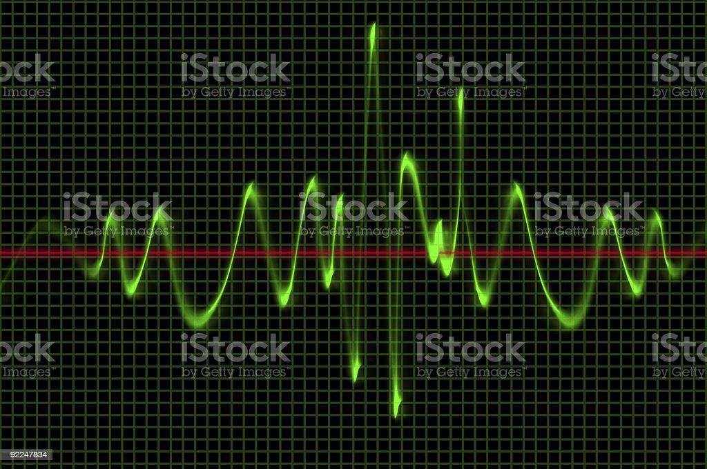Radio Wave Oscilloscope Pattern royalty-free stock photo