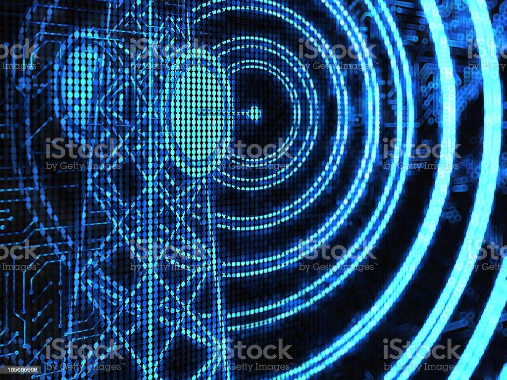 Radio wave stock photo
