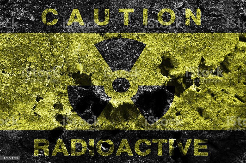 Radioactive background stock photo