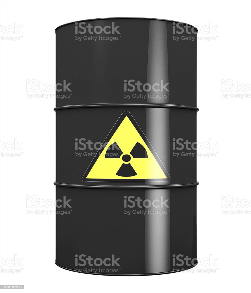 Radioactive Barrel stock photo