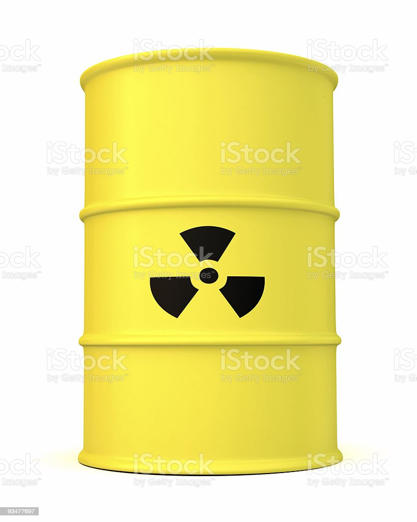 Radioactive Barrel royalty-free stock photo