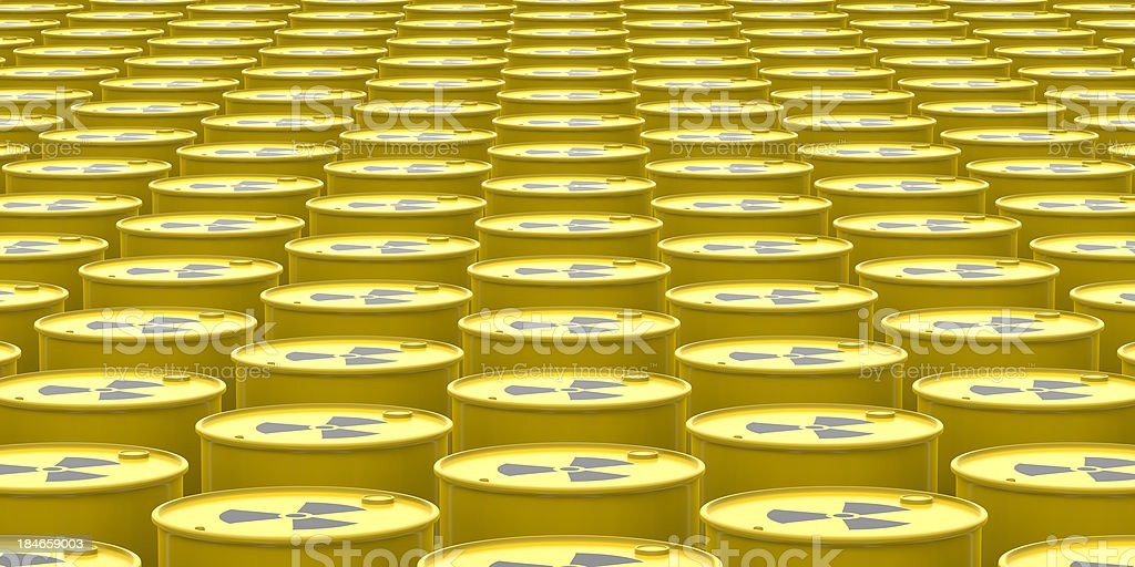 Radioactive Barrels Background stock photo