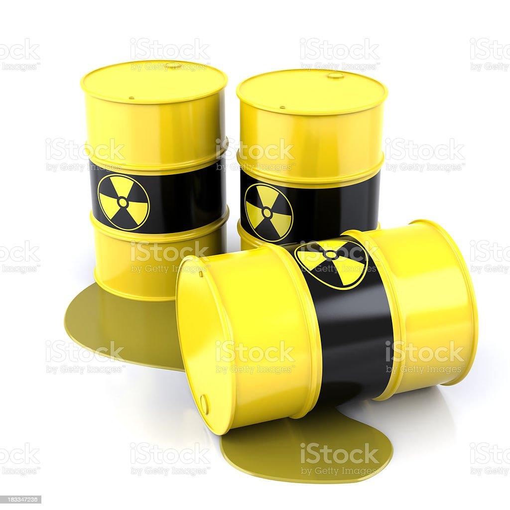 Radioactive Barrels royalty-free stock photo