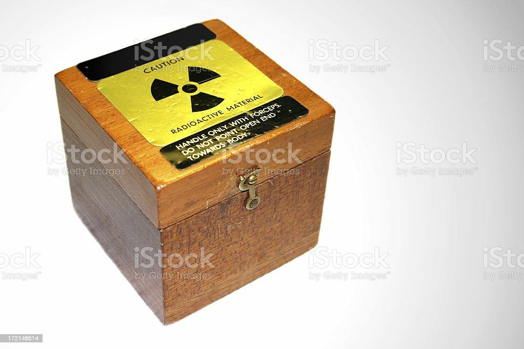 Radioactive Box stock photo