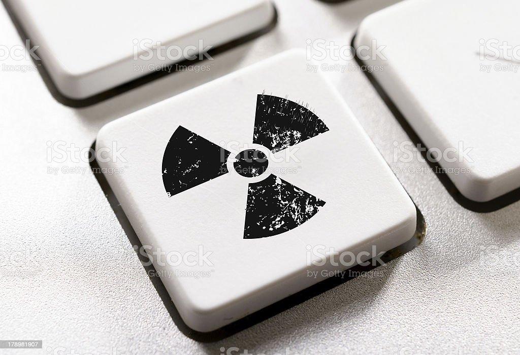 Radioactive button royalty-free stock photo