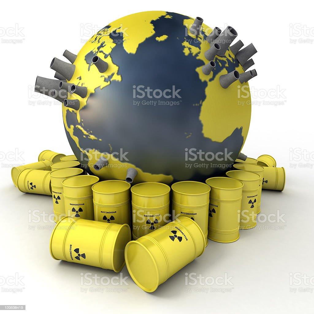 Radioactive Earth stock photo