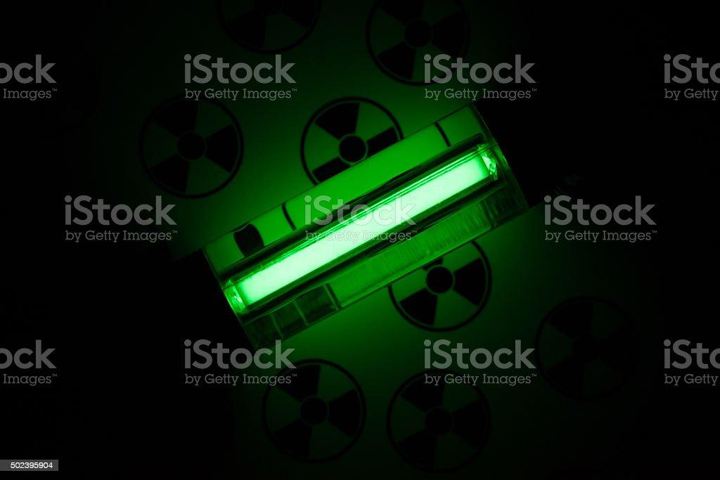 Radioactive glow stock photo