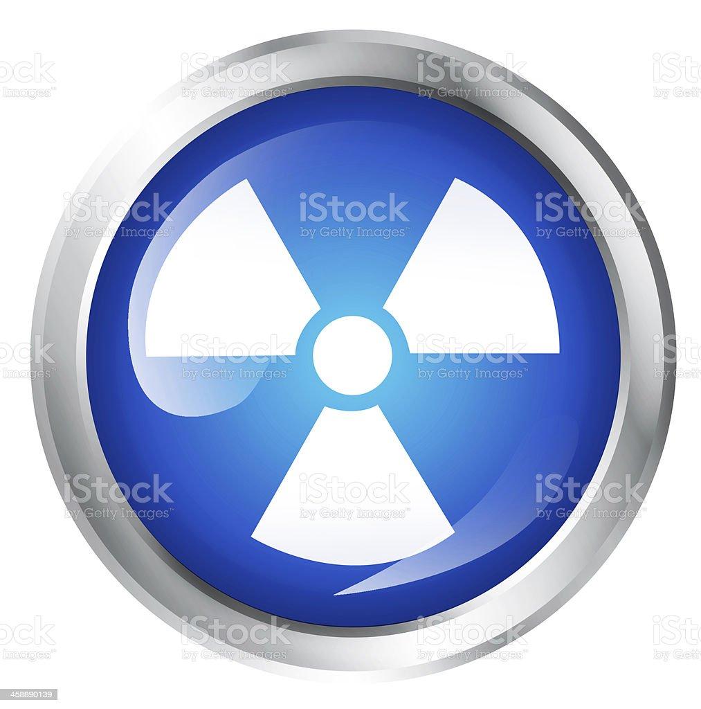 Radioactive icon stock photo