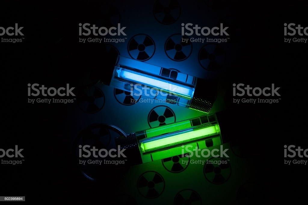 Radioactive lights stock photo