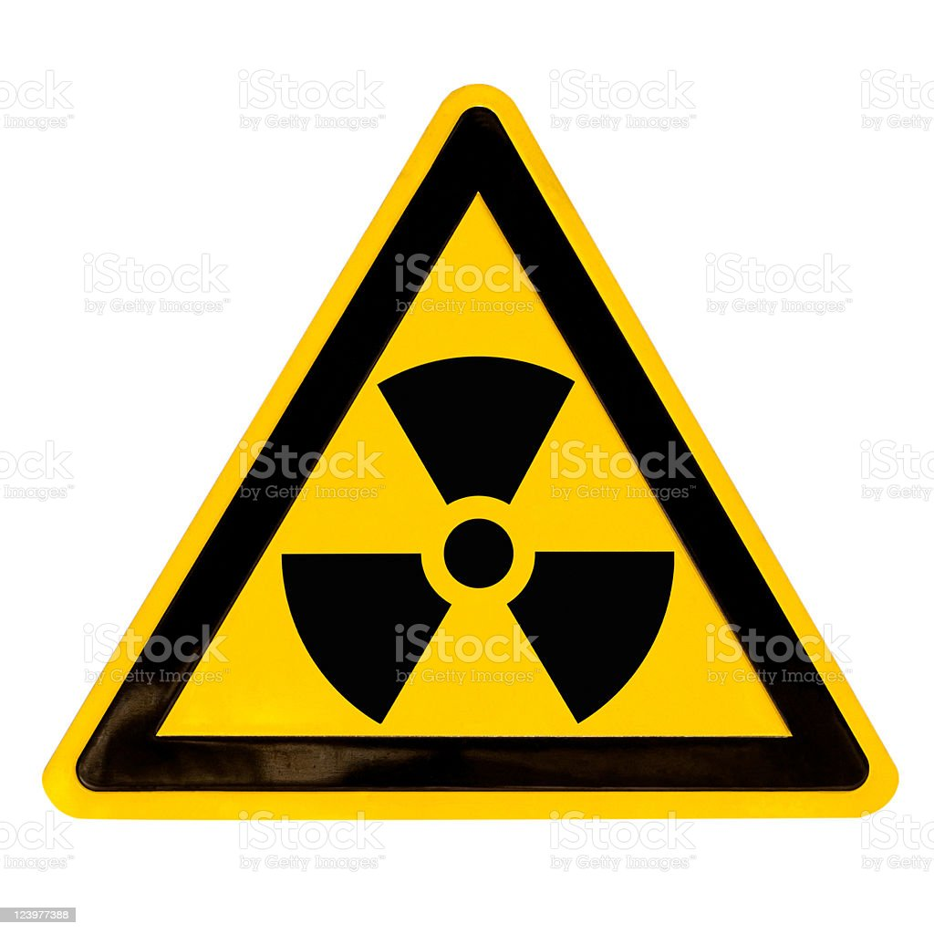 Radioactive Sign isolated on white stock photo